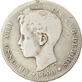 Coin, Spain, Alfonso XIII, Peseta, 1900, VF(20-25), Silver, KM:706