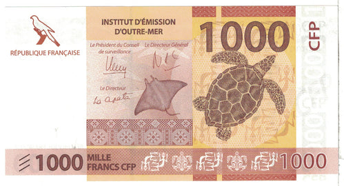 Banknote, French Pacific Territories, 1000 Francs, 2014, Undated, KM:6