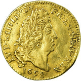 Coin, France, 1/2 Louis d'or, 1698, Paris, EF(40-45), Gold, KM:301.1