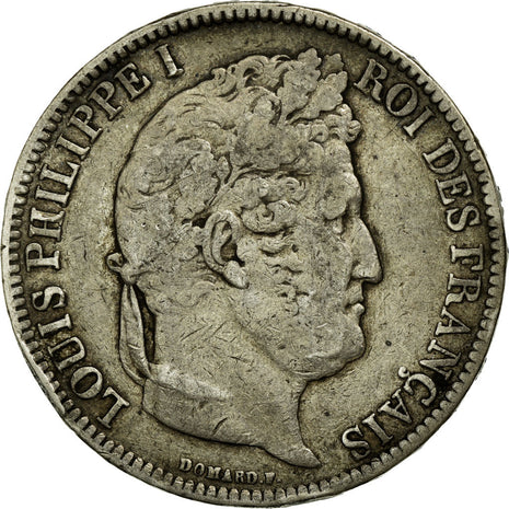 Coin, France, Louis-Philippe, 5 Francs, 1831, Nantes, VF(30-35), Silver