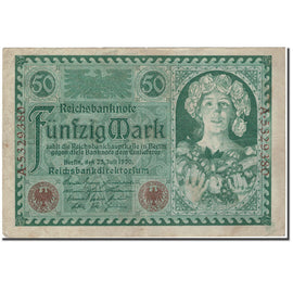 Banknote, Germany, 50 Mark, 1920-07-23, KM:68, EF(40-45)