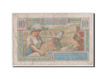 Banknote, France, 10 Francs, 1947 French Treasury, 1947, VF(20-25)