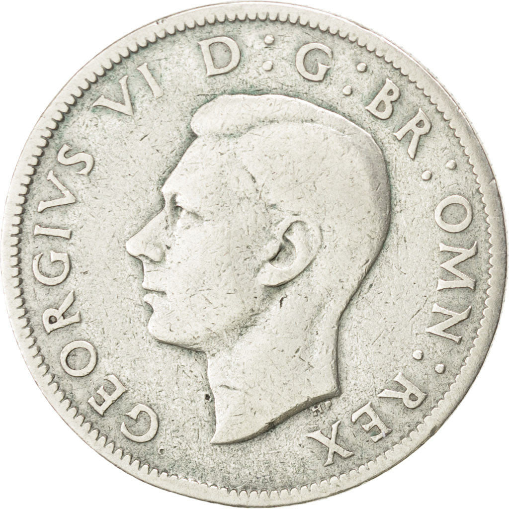 Coin, Great Britain, George VI, Florin, Two Shillings, 1943, VF(30-35), Silver