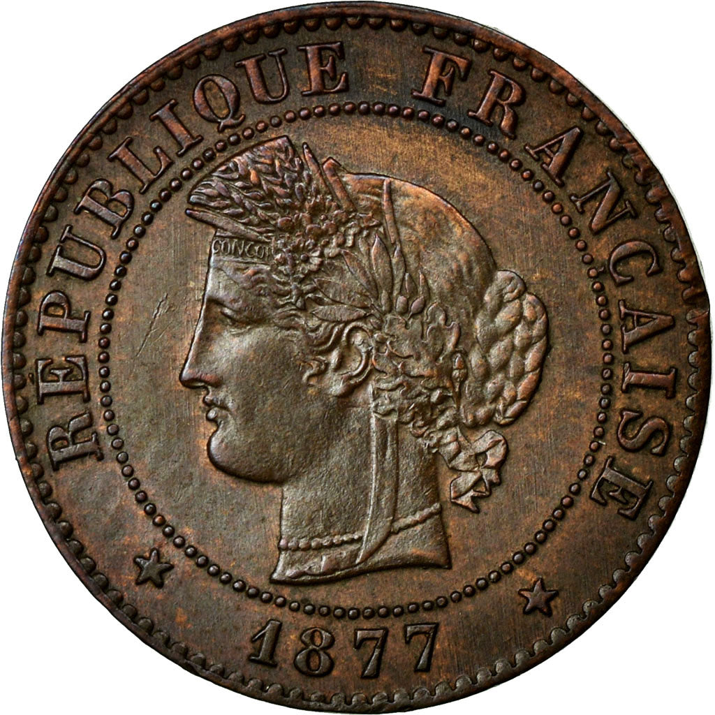 Coin, France, Cérès, Centime, 1877, Paris, AU(55-58), Bronze, Gadoury:88