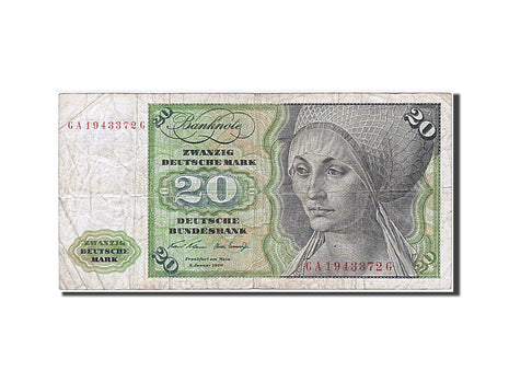 Banknote, GERMANY - FEDERAL REPUBLIC, 20 Deutsche Mark, 1980, 1980-01-02