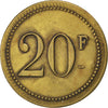 Coin, France, 20 Francs, EF(40-45), Brass, Elie:C920.1
