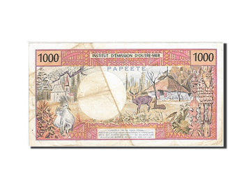 French Pacific Territories, 1000 Francs, 1996, KM #2b, VF(30-35), L.0009