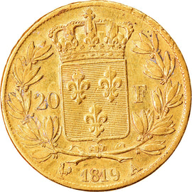 Coin, France, Louis XVIII, Louis XVIII, 20 Francs, 1819, Paris, EF(40-45), Gold