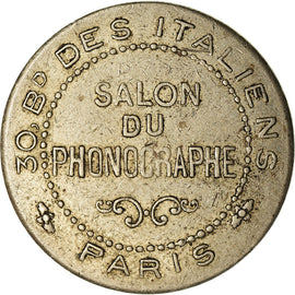 France, Medal, Salon du Phonographe, 30 Bd des Italiens, Paris, EF(40-45)
