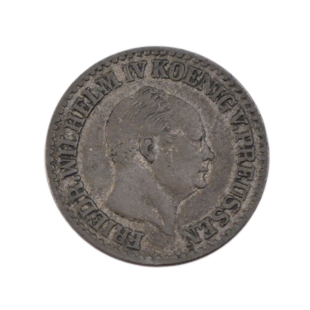 GERMAN STATES, Groschen, 1855, Berlin, KM #462, VF(30-35), Silver, 2.10
