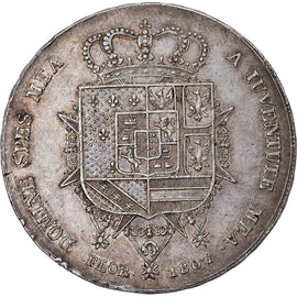 Coin, ITALIAN STATES, TUSCANY, Charles Louis, 10 Lire, 1807, AU(55-58), Silver
