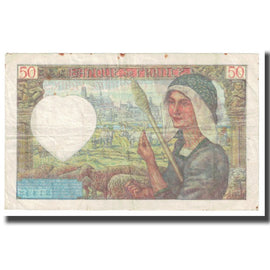 France, 50 Francs, 1941, P. Rousseau and R. Favre-Gilly, 1941-11-20, VF(30-35)