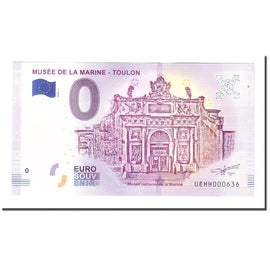 France, Tourist Banknote - 0 Euro, 83/ Toulon - Musée National de la Marine