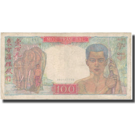 Banknote, FRENCH INDO-CHINA, 100 Piastres, ND (1947-54), KM:82b, VF(20-25)