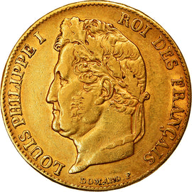 Coin, France, Louis-Philippe, 20 Francs, 1840, Paris, EF(40-45), Gold, KM:750.1