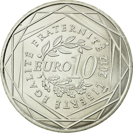 Coin, France, 10 Euro, 2012, MS(63), Silver, KM:1870