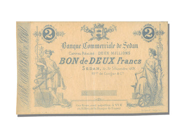 FRANCE, Sedan ou La Tour A Glaire, 2 Francs, 1871, 1871-12-30, UNC(63), Jérémie