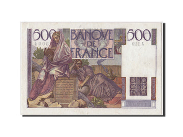 France, 500 Francs Chateaubriand, KM:129c, Fay:34.10, 1952-09-04, UNC(63)