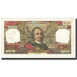 France, 100 Francs, Corneille, 1968, 1968-01-04, VG(8-10), Fayette:65.20