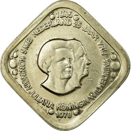 Coin, Netherlands, Beatrix, 5 Cents, 1970, EF(40-45), Copper-Nickel-Zinc, KM:8