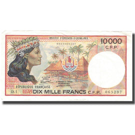Banknote, French Pacific Territories, 10,000 Francs, Undated (1985), KM:4a