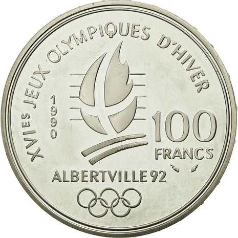 Coin, France, 100 Francs, 1990, MS(65-70), Silver, KM:981, Gadoury:911