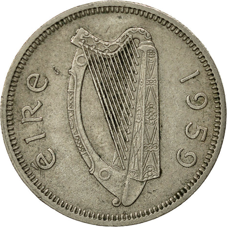 IRELAND REPUBLIC, Shilling, 1959, EF(40-45), Copper-nickel, KM:14A