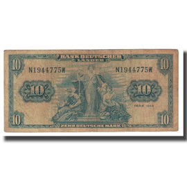 Banknote, GERMANY - FEDERAL REPUBLIC, 10 Deutsche Mark, 1949, KM:16a, VF(20-25)