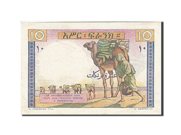 Banknote, French Somaliland, 10 Francs, 1946, 1946, KM:19, UNC(63)