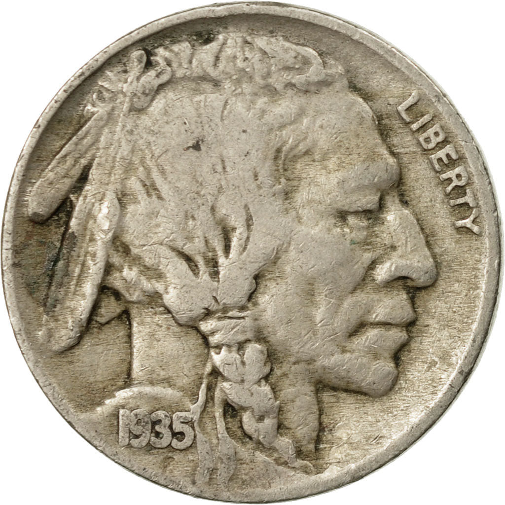 1935 V-F ORIGINAL Buffalo Nickel  FREE SHIPPING ON ADDITIONAL COINS BOUGHT