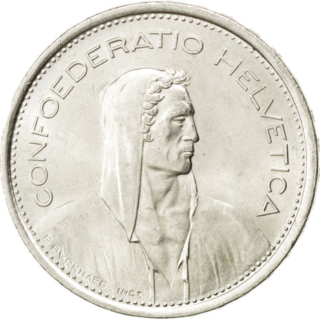 SWITZERLAND, 5 Francs, 1969, Bern, KM #40, MS(60-62), Silver, 31.45, 14.98