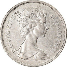 Coin, Great Britain, Elizabeth II, 10 New Pence, 1976, AU(50-53), Copper-nickel
