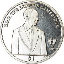 Coin, BRITISH VIRGIN ISLANDS, Dollar, 2013, Franklin Mint, Duc de Cambridge