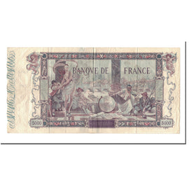 France, 5000 Francs, 5 000 F 1918 ''Flameng'', 1918, 1918-01-28, VF(20-25)