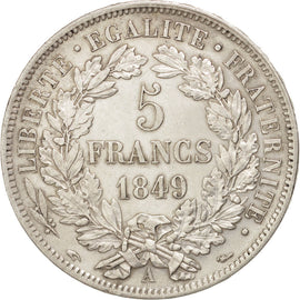 Coin, France, Cérès, 5 Francs, 1849, Paris, AU(50-53), Silver, KM:761.1