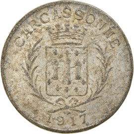 Coin, France, Union des Commerçants, Carcassonne, 10 Centimes, 1917, EF(40-45)