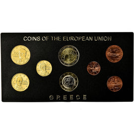 Greece, 1 Cent to 2 Euro, Mixed Dates, MS(65-70)