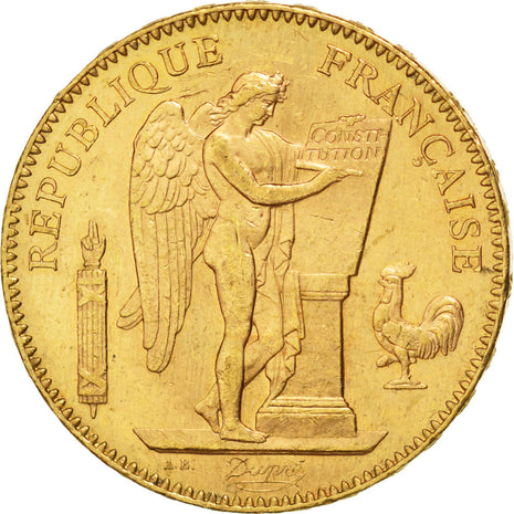 Coin, France, Génie, 50 Francs, 1904, Paris, AU(55-58), Gold, Gadoury:1113