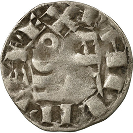 Coin, France, Philip II, Denier Parisis, Arras, VF(20-25), Silver, Duplessy:168