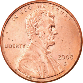 Coin, United States, Lincoln Cent, Cent, 2008, U.S. Mint, Dahlonega, AU(55-58)