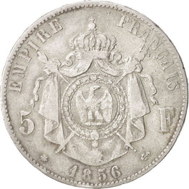 Coin, France, 5 Francs, 1856, Strasbourg, VF(30-35), Silver