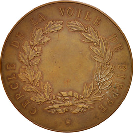 France, Dieppe Sailing society, History, Medal, AU(55-58), Bronze, 59mm