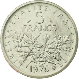 Coin, France, 5 Francs, 1970, MS(65-70), Nickel Clad Copper-Nickel, KM:P408