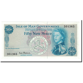Isle of Man, 50 New Pence, undated (1969), KM:27A, UNC(65-70)