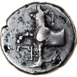 Coin, Thrace, Byzantion, Hemidrachm, 387-340 BC, EF(40-45), Silver