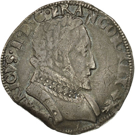 Coin, France, François II, Teston, 1559, Bayonne, VF(30-35), Silver