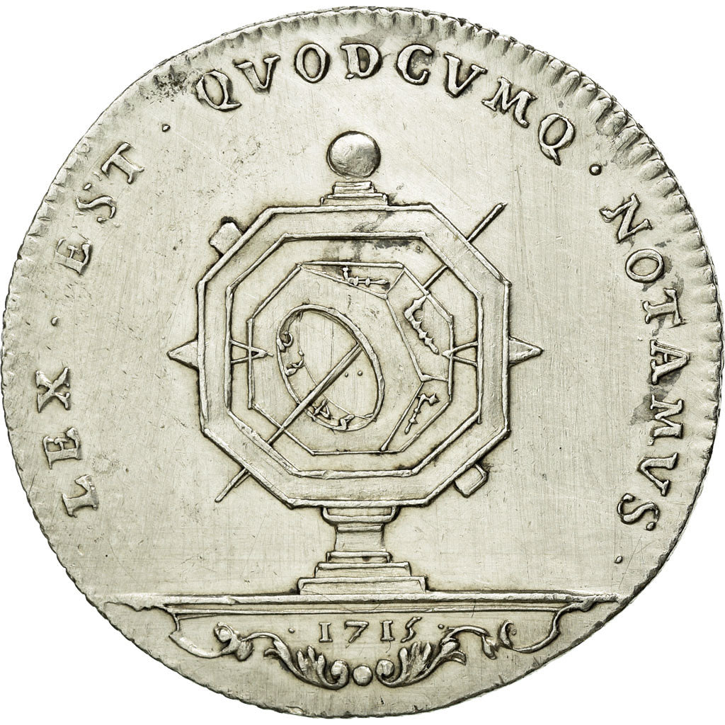 France, Token, Notary, 1715, AU(55-58), Silver, Lerouge:167
