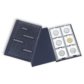 Coin Wallet with 10 Coin Sheets each for 6 coins, Blue, Leuchtturm:325026