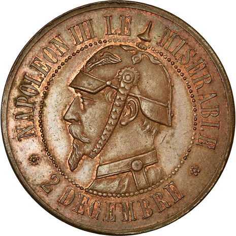 Coin, France, 10 Centimes, 1870, AU(55-58), Bronze