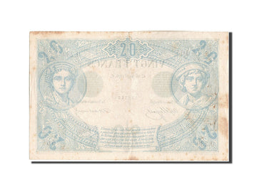 France, 20 Francs, 20 F 1874-1905 ''Noir'', 1870, KM #61a, 1875-04-26,...